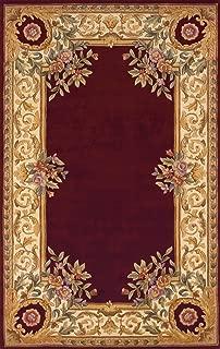 Momeni Rugs HARMOHA-07BUR5080 Harmony Collection, Traditional Area Rug, 5' x 8', Burgundy