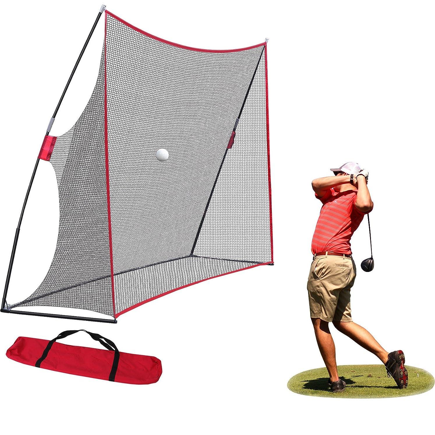 Nova Microdermabrasion Large 10x7ft Portable Golf Net Hitting Net Practice Driving Indoor Outdoor w/Carry Bag kfhzamqvt1400513