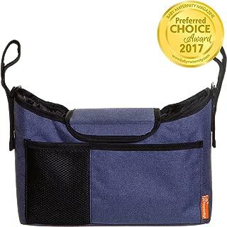 Dreambaby Strollerbuddy On-The-Go Stroller Organization Bag with Cup Holders, Denim