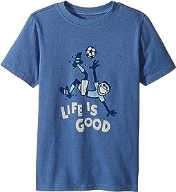Life is Good Kids - Bicycle Kick Soccer Crusher Tee (Little Kids/Big Kids)