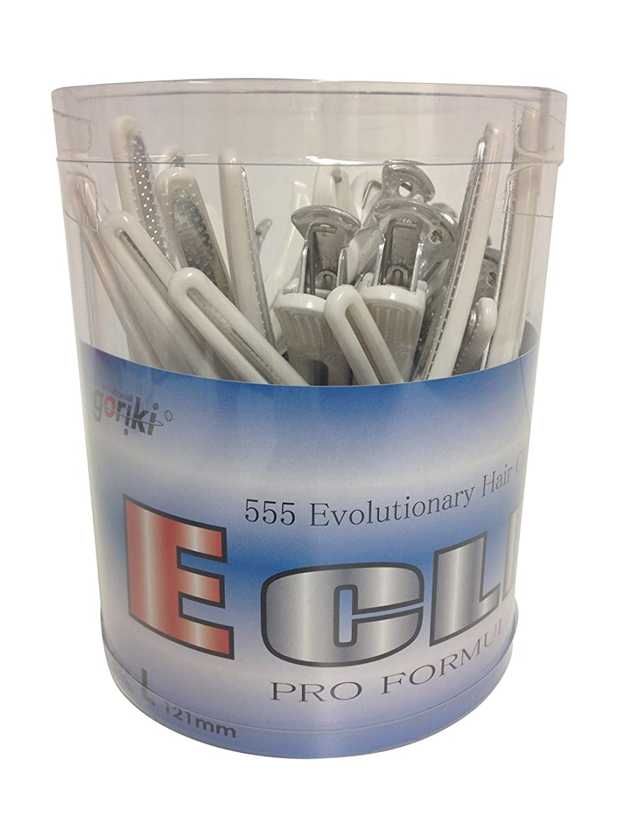 特徴づける永遠の征服五力工業 Eクリップ Lサイズ 丸筒入り ホワイト(抗菌) 24本入り