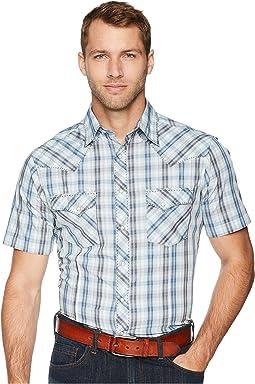 Fashion Snap Short Sleeve Plaid
