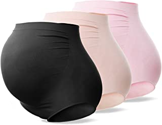 SUNNYBUY Women's High Waist Maternity Underwear Seamless Pregnancy Panties Under Bump 3 Pack