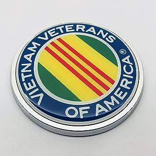 VIETNAM VETERANS OF AMERICA 3D Domed Emblem Badge Car Sticker Chrome ROUND Bezel