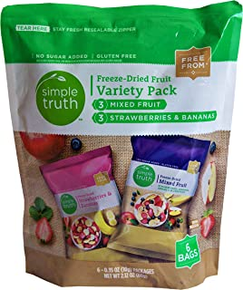 Simple Truth Freeze Dried Fruit Variety Pack Mixed Fruit and Strawberry Banana