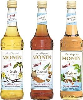 Monin Light Set 3 x 0.7l Flaschen: Vanille Light, Caramel Light, Haselnuss Light