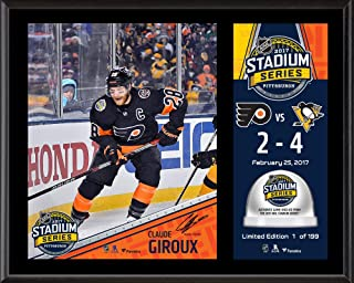 "Claude Giroux Philadelphia Flyers 12"" x 15"" 2017 Stadium Series Sublimated Plaque with Game-Used Ice - Limited Edition of 199"