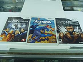3 in 1 Heroic Pack for the Wii Batman the Brave and the Bold Xmen Origins Wolverine Fantastic Four Rise of the Silver Surfer
