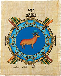 Leolana Zodiac Sign Papyrus Painting (Isis - Aries) March 22 - April 20