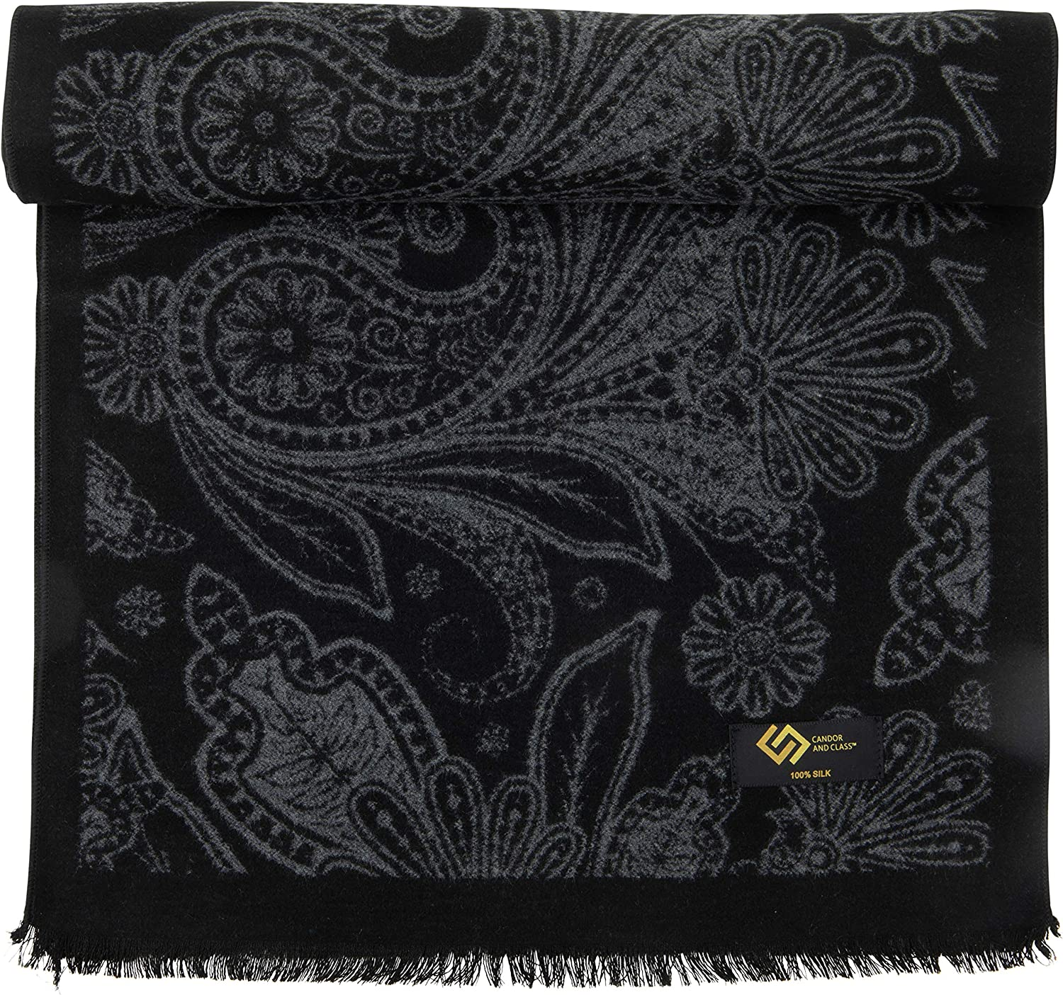 Men's At the price of surprise 100% Brushed Finally popular brand Silk Scarf Soft Winter Luxurious Cashmer for