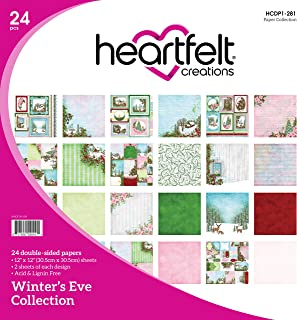 Heartfelt Creations Winter's Eve 12 Designs Double-Sided Paper Pad 24/Pkg, 12