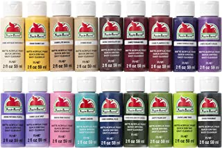 Apple Barrel PROMOABII Matte Finish Acrylic Craft Paint Set Designed for Beginners and Artists, Non-Toxic Formula that works on All Surfaces, Assorted Colors 2, 18 Count