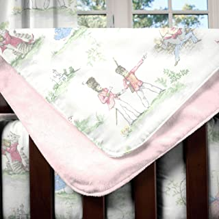 Carousel Designs Pink Over The Moon Toile Crib Blanket