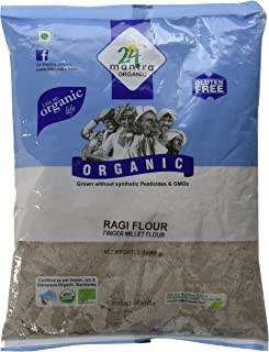 24 Mantra Organic Ragi Flour (Finger Millet Flour) - 4 lbs, Gray