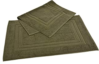 Homestead Textiles Growers Collection 100-Percent Zero-Twist Pima Cotton 2-Piece Bath Mat Set, Moss Green