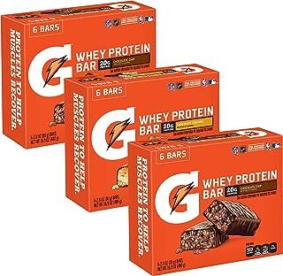 Gatorade Whey Protein Bars, Variety Pack, 2.8 oz bars (Pack of 18)