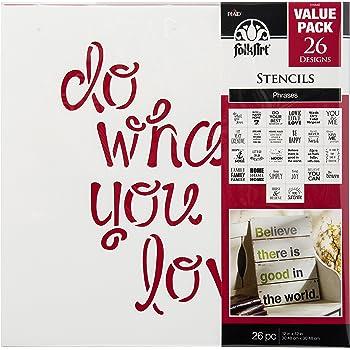 7 X 10 Clear FolkArt 6286E Fairy Garden Stencil Value Pack