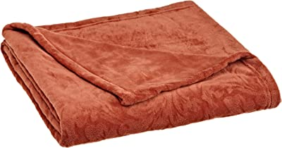 Northpoint Damask Mink Throw, Terracotta
