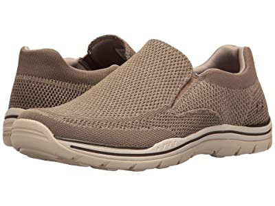 SKECHERS Relaxed Fit Expected Gomel (Taupe Knitted Mesh) Men
