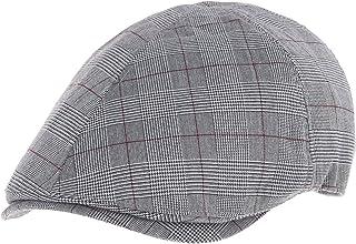 ff8c5cf2ded WITHMOONS Trendy Glen Plaid Check Pattern Newsboy Hat Flat Cap SL3356