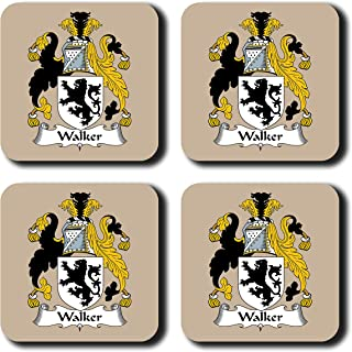 Walker Coat of Arms/Family Crest Coaster Set, by Carpe Diem Designs – Made in the U.S.A.