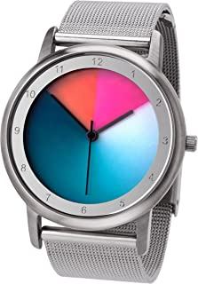 Reloj de pulsera unisex con caja de acero inoxidable Avantgardia classic, Rainbow e-motion of color