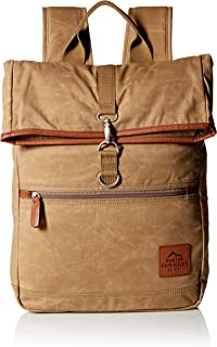 Buxton Men's Expedition Ii Huntington Gear Fold-Over Canvas Backpack
