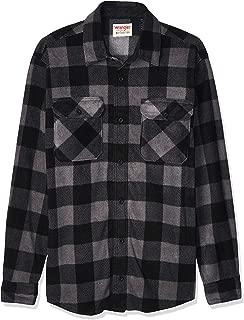 Authentics Men's Long Sleeve Heavyweight Plaid Fleece Shirt