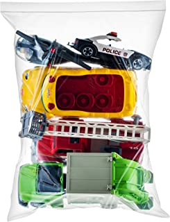 30 Count Extra Large Zip & Lock Bags, Thick Strong Clear Big Jumbo Storage Bags for Food, Travel, Organization, Size 18