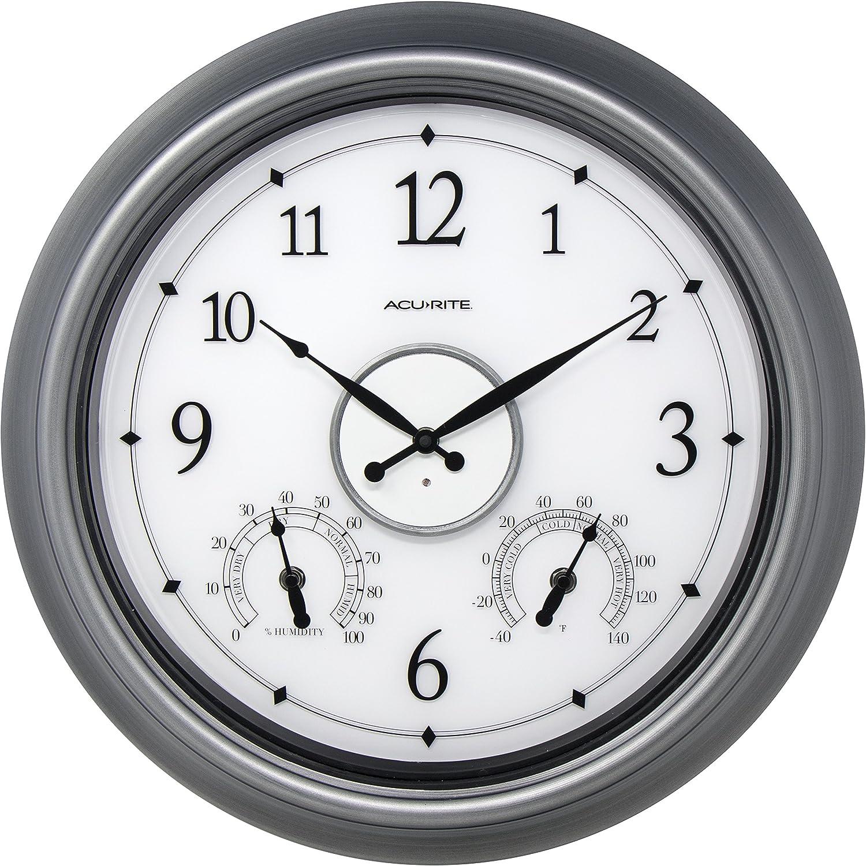 AcuRite 75455M LED Illuminated Clock 18