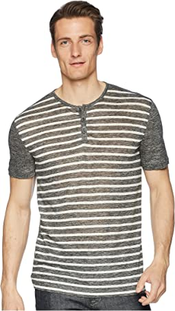 John Varvatos Collection Short Sleeve Stripe Henley K2266U1
