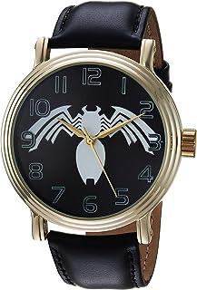 ساعة للرجال من MARVEL - انالوج بعقارب للرجال بسوار جلدي - لون أسود 22 (WMA000219)