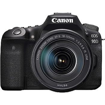 Canon キヤノン デジタル一眼レフカメラ EOS 90D(W)・EF-S18-135 IS USM レンズキット EOS90D18135ISUSMLK-A ブラック