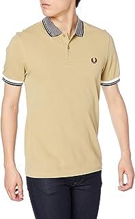 [フレッドペリー] ポロシャツ STRIPE COLLAR POLO SHIRT M8638 メンズ 582_DARK STONE UK XS (日本サイズS相当)