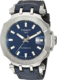 Mens T-Race Swiss Automatic Stainless Steel Sport Watch (Model: T1154071704100)