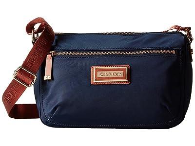 Calvin Klein Belfast Nylon Crossbody (Navy) Cross Body Handbags