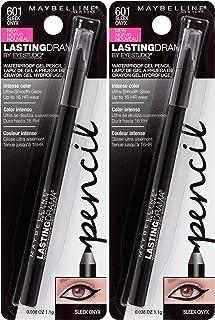Maybelline New York Eyestudio Lasting Drama Waterproof Gel Pencil Makeup, Sleek Onyx, 2 Count