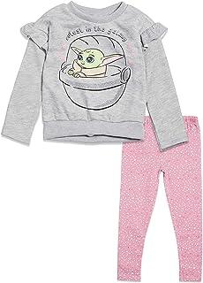STAR WARS Mandalorian The Child Girls Fleece T-Shirt and Leggings Set