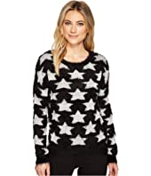 ROMEO & JULIET COUTURE - Star Motif Eyelash Sweater Top