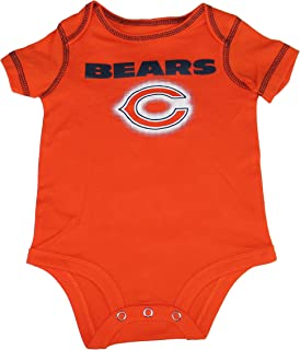 Chicago Bears Infant Onesie Size 0-3 Months Bodysuit Creeper - Orange 7d79df058