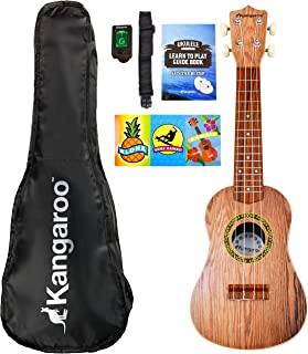 """22.5"""" Ukulele with Electronic Tuner, Strap, Picks, Carrying Case & Songbook"""