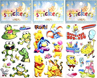 Diximus Stickers for Kids – 3D Stickers for Scrapbooking – 3D Puffy Stickers (Set of 3 - Cartoon #3)