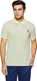 US Polo Men's Solid Regular Fit T-Shirt