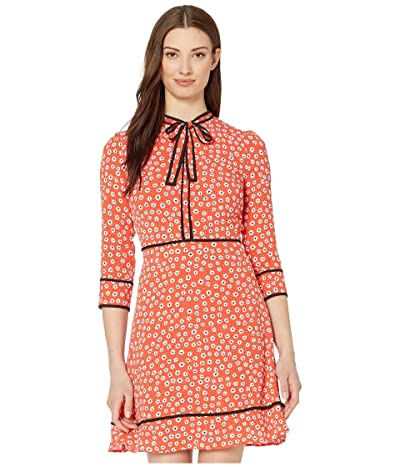 CeCe Long Sleeve Daisy Melody Dress with Bow (Candy Apple) Women