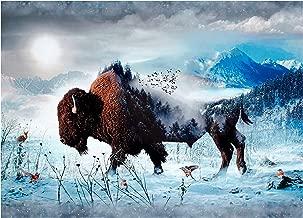 Hoffman Fabrics Hoffman Digital Call of The Wild 33inPanel Bison