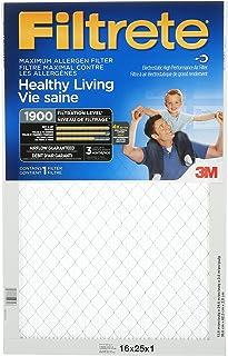Filtrete 16x25x1 MPR 1900 Pleated AC Furnace Air Filter 6-Pack - Maximum Allergen Healthy Living (MA01DC-6-C-6/CS)