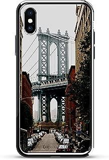 MANHATTAN BRIDGE SEETHROUGH | Luxendary Chrome Series designer case for iPhone X in Silver trim