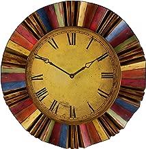 Ojeda Wall Clock Art Décor - Multicolor Finish - Large Face w/Roman Numerals