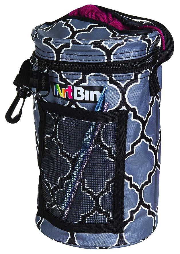 ArtBin Mini Yarn 6824AG MINIIYARN Drum Tote Bag Black/Gray, Grey