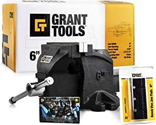 Grant Tools Professional Bench Vise Fixed Base (4